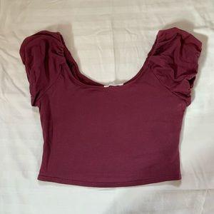 NWOT Lush puff sleeve T-shirt